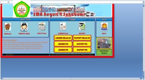 Aplikasi Pembuat Raport Digital Format Excel