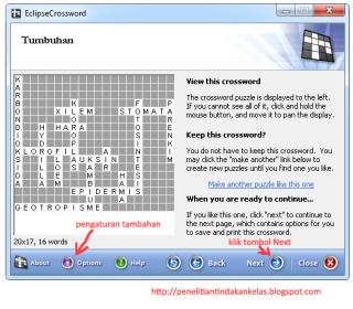 cara membuat TTS dengan EclipseCrossword 7