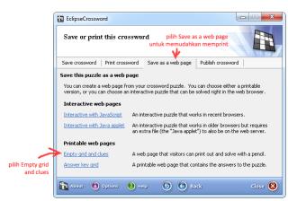 cara membuat TTS dengan EclipseCrossword 8
